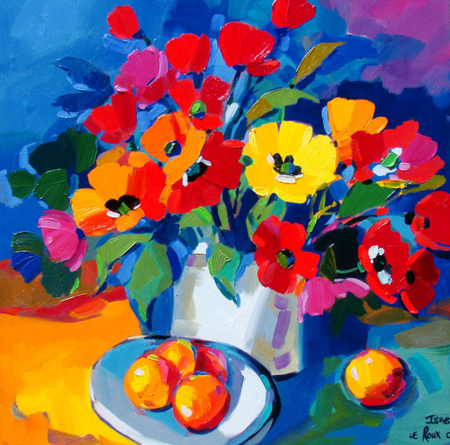 Still Life with Flowers & Fruit