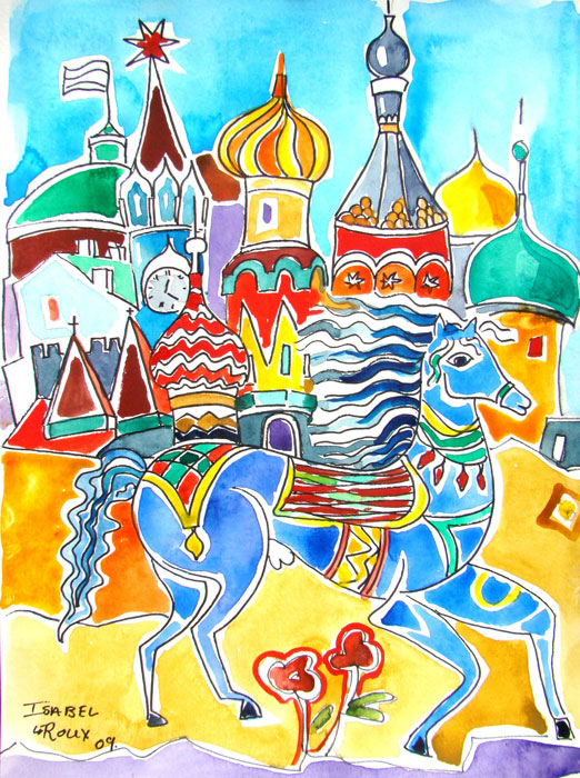 Blue Horse of Moskou